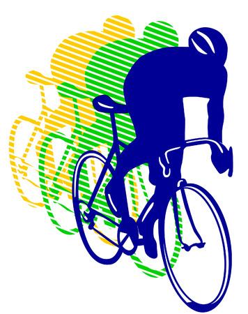 race fiets  Vector Illustratie