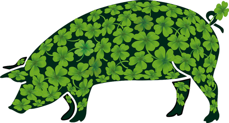 lucky pig  Stock Vector - 6630203