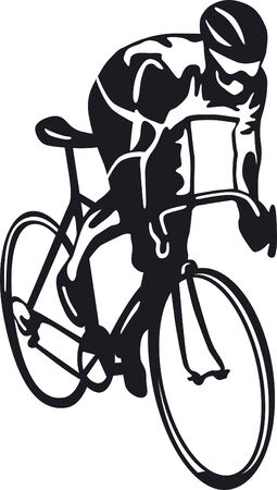 cycling race:  bicyclist  Illustration