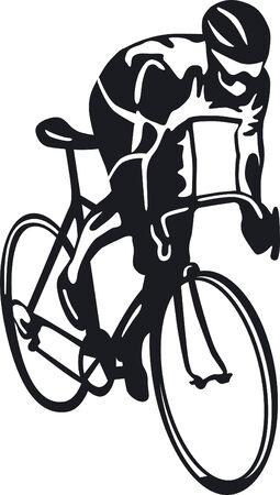 ciclismo: ciclista.  Vectores