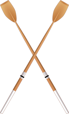 in oars:  scull, paddle  Illustration