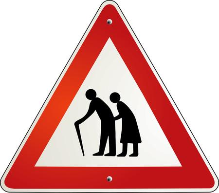 �ltere menschen: Aufmerksamkeit Ruhestand Rentner  Illustration