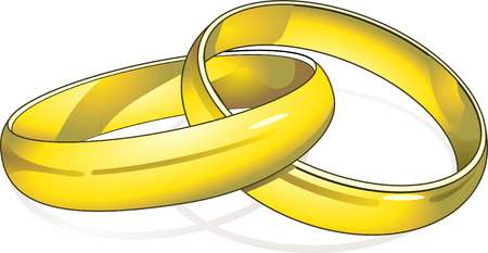 vows:  rings  Illustration