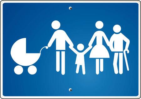 extended family, warning  Vector