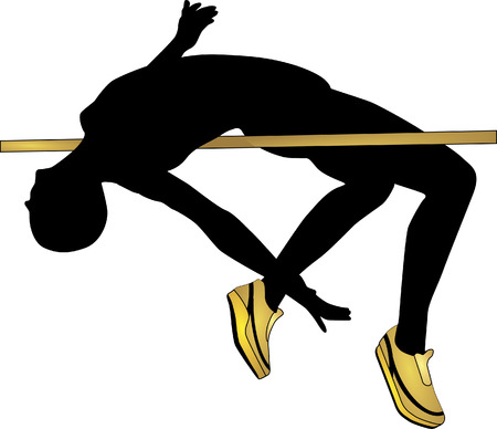 high jump  Illustration