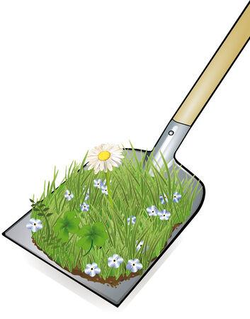 shovel garden work