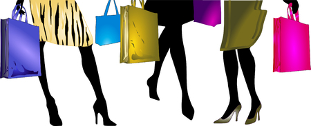 go shopping: Ladies to go shopping