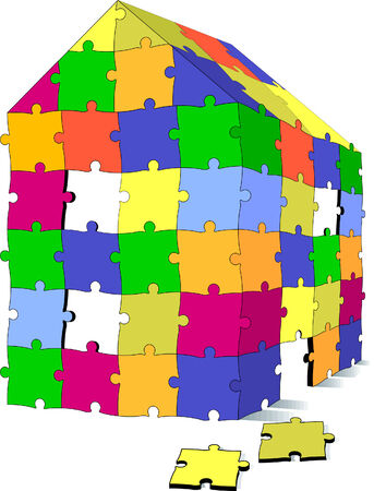 puzzle house  Stock Vector - 6630243
