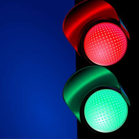 traffic light, green-red Stock Vector - 6630267