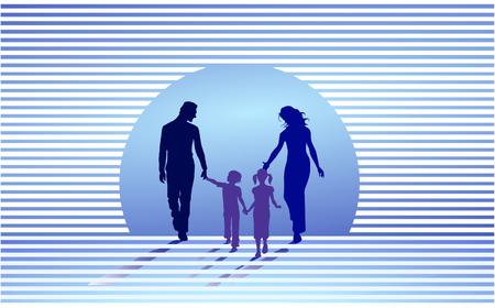 familia compatible  Ilustración de vector
