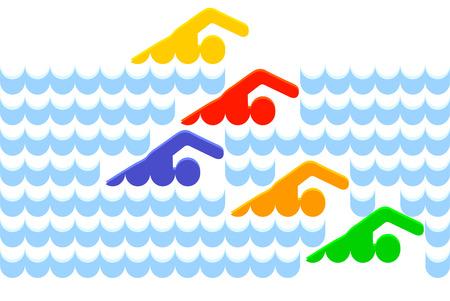 swimmer  Stock Vector - 6630313