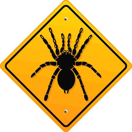 warning bird spider  Stock Vector - 6630306