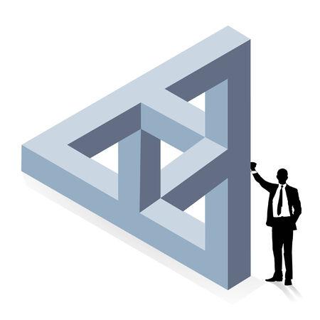 three-dimensional construction Stock Vector - 6630309
