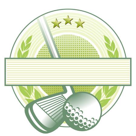 signet: emblema del club de golf  Vectores