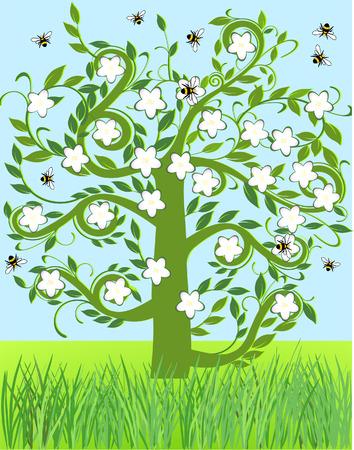 apple blossom  Stock Vector - 6690430