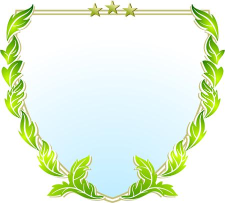 bay leaf: crest sign