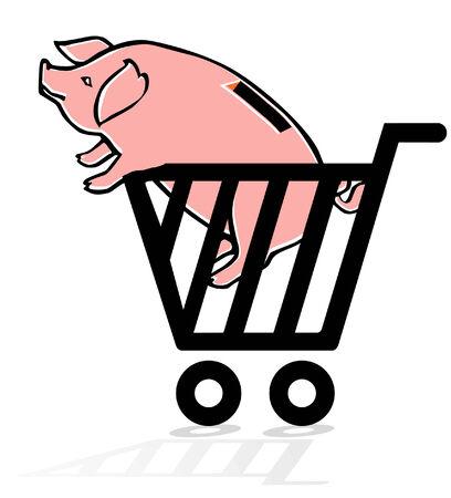 bargain: to make a good bargain, piggy bank