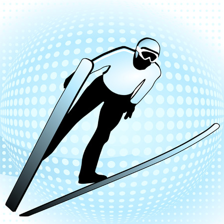 ski jumper  Vector