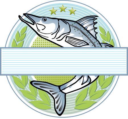 fisherman logo  Vector