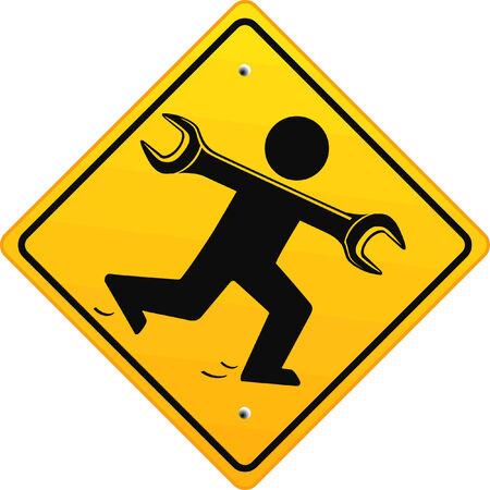 maintenance man:  rapid repair  Illustration