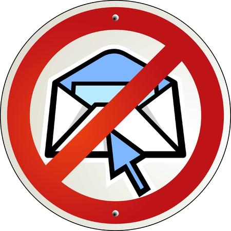 no spam e-mail Stock Vector - 6823759
