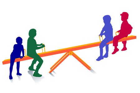 see saw: seesaw, to teeter