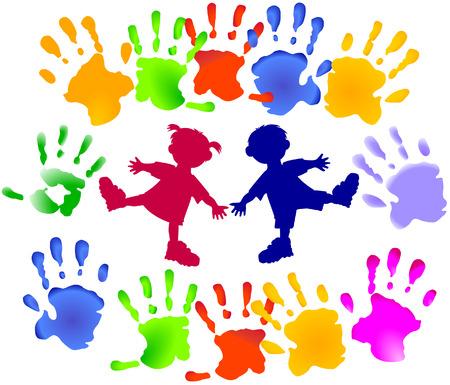 若い子供たちのパーティー  イラスト・ベクター素材