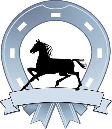 blacksmith: sign horseshoe  Illustration