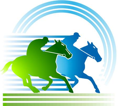 thoroughbred horse: carreras de caballos