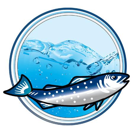 underwater fish sign  Vector