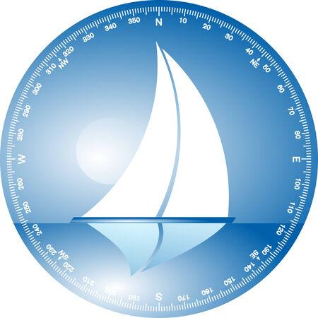 to sail on a close reach  Vector