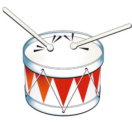 tambor de estaño Ilustración de vector