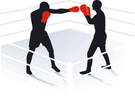 glows: boxing, boxing ring