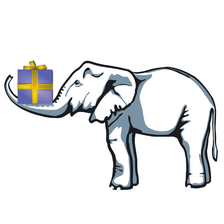 Elephant present  Vector