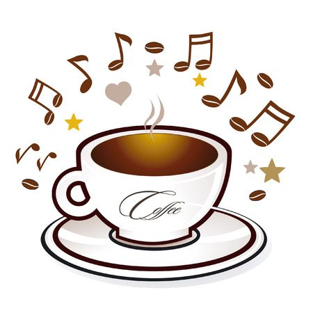 Coffee and sweet music  Vector