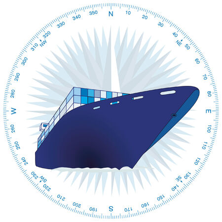 wares: container ship Illustration