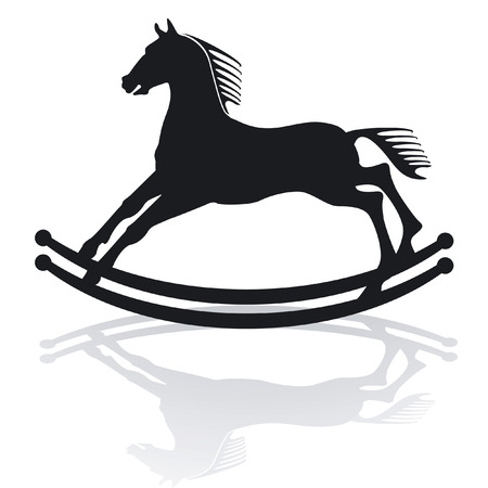 rocking horse: rocking horse Illustration