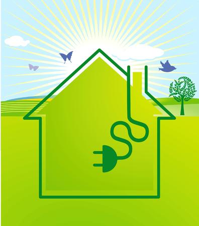 maison solaire: �lectricit� �cologique