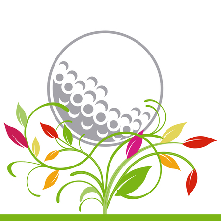 golfcourse: golf and trailing plant