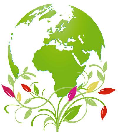 green planet: world natural heritage Illustration