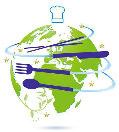 international activity restaurant Illustration