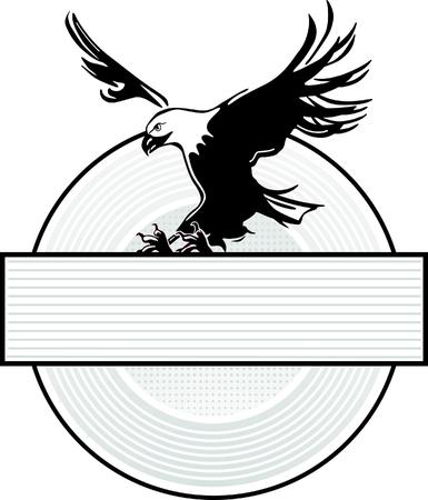 halcones: Difundir la insignia del �guila de ala Vectores