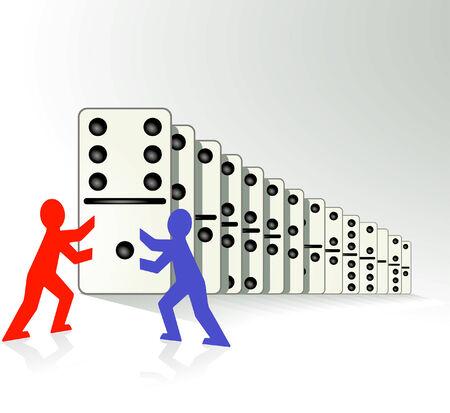 domino effect Vector