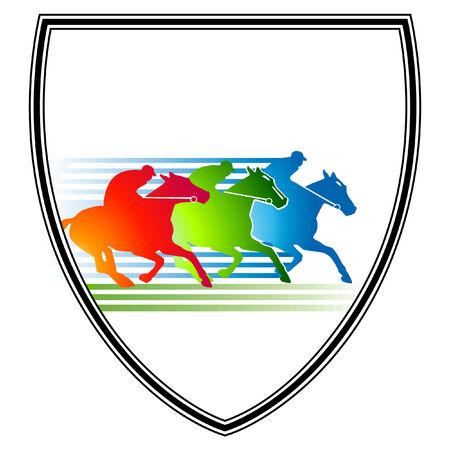 jockey: reuni�n de la carrera de caballos  Vectores