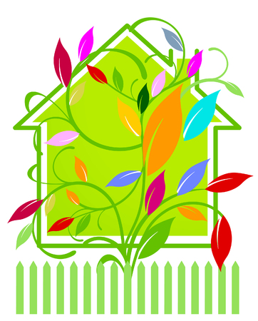 home with warm response Illustration