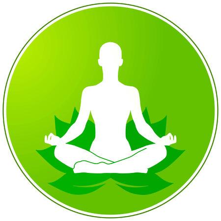 yoga meditation: green yoga Illustration