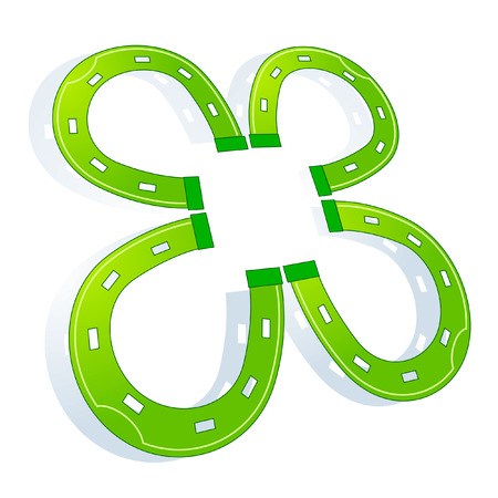 cloverleaf: clover horse shoe Illustration