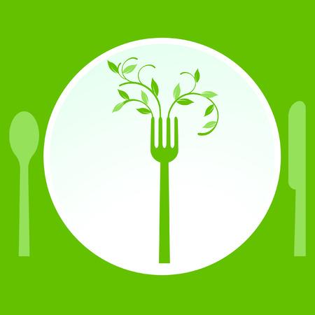 vegetarische maaltijd Vector Illustratie