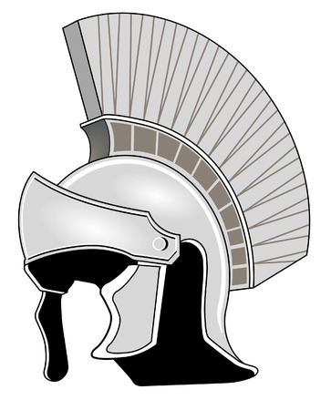 roman soldier: Roman helmet Illustration