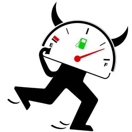 propellant: devil gasoline gauge Illustration